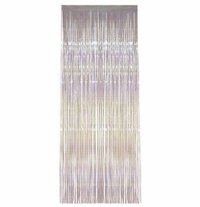 Image Is Loading Iridescent Shimmer Foil Door Curtains 8ft X 3ft