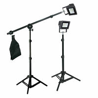 Led Mini Boom Light Kit 3ft Light Stand For Table-top Product Photography Video