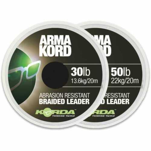 KORDA ARMAKORD snag leader RIG MATERIAL carp fishing tackle 30lb or 50lb 20m