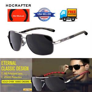 HDCRAFTER HD8556 Aviator Sports Half Metal Cool Polarized Sunglasses