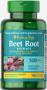 Puritan-039-s-Pride-Beet-Root-Extract-500mg-90-Rapid-Rel-Capsules-free-shipping