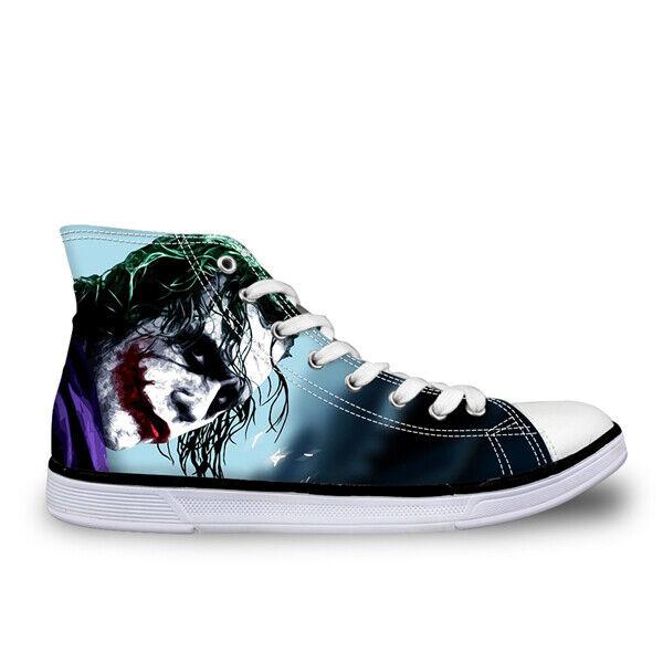 Harley Quinn Hi Top Canvas Sneakers sizes 11.5 12 13 1 2 3