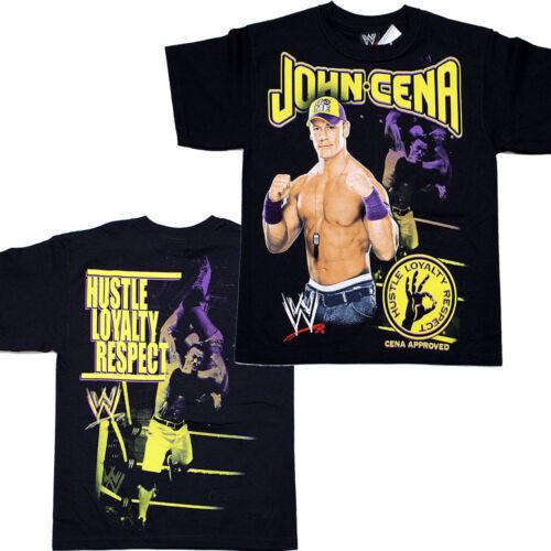 WWE Wrestling John Cena T Shirt Loyalty Respect Junior Kids size T Shirt Tee