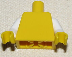 Lego 2 New Medium Blue Minifigure Arms Pair and Yellow Hands Boy Girl Town City