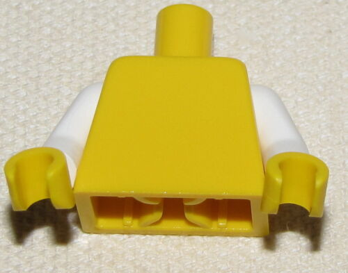 LEGO NEW PLAIN YELLOW MINIFIGURE TORSO WITH WHITE ARMS YELLOW HANDS BO Y GIRL