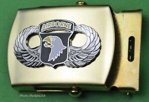 101st-Airborne-Army-Jump-Wing-black-Web-Belt-amp-brass-buckle