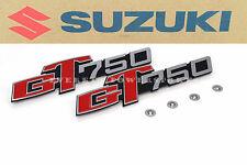 Genuine Suzuki Side Panel Cover Emblems 73-77 GT750 Lemans Kettle Badges #A31