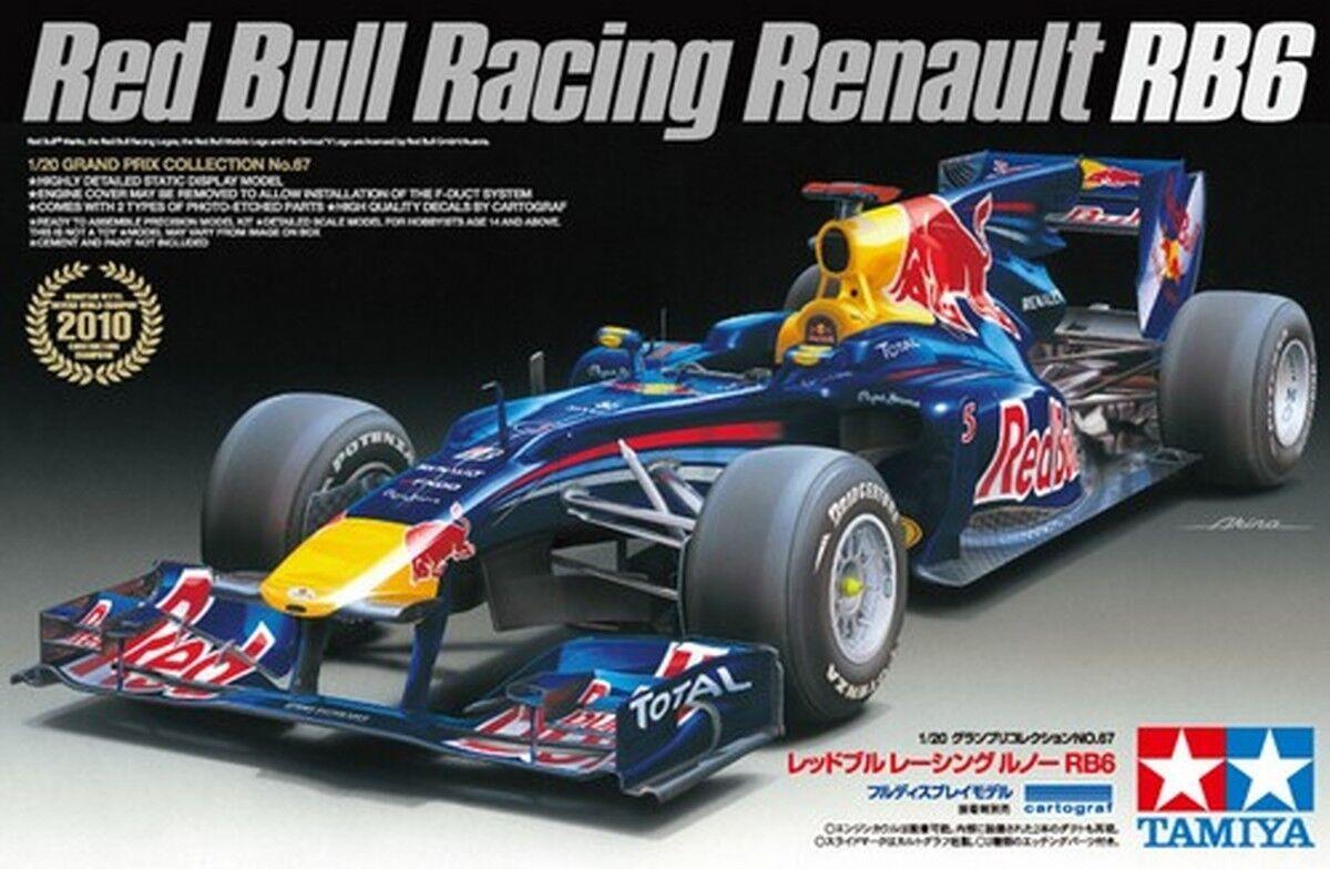 KIT TAMIYA 1 20 AUTO F1 rosso BULL RACING RENAULT RB6  ART  20067