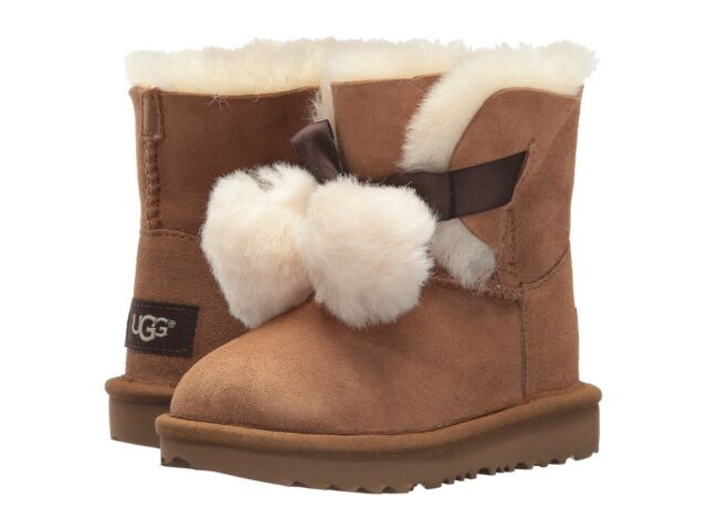 ebd40c94e0a UGG Kids Toddler Gita Classic Novelty Boot 1017403t Chestnut Size 10