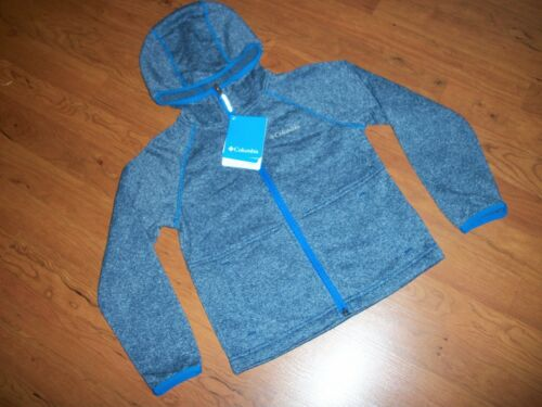 NWT boys Columbia Snyder Lake hooded fleece jacket XXS or S Navy//Royal