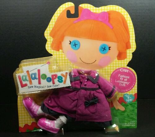 LaLaLoopsy Purple Corduroy Coat Winter Fashion Pack Shoe Full Size Doll Clothes