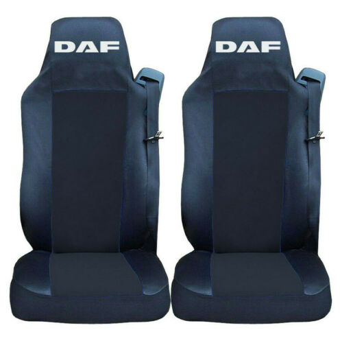 Conjunto de 2 cubiertas de asiento negro para DAF XF EURO 6 2014 camión adaptado camión RHD