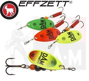 DAM-EFFZETT-Spinner-Lure-Fishing-Bait-FLUO-Predator-Gear-Tackle-Pike-Trout-Perch