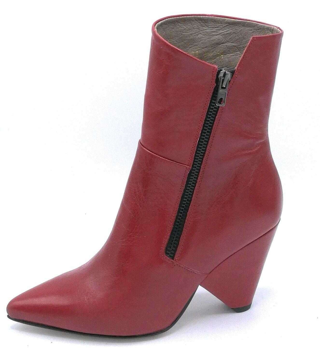 Paola Paola Paola Ferri D 4786 stivaletto nappa red   black cerniera tacco 8 cm 1cb0fc
