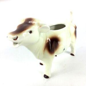 Vintage-Brown-White-Ceramic-Cow-Creamer-Germany