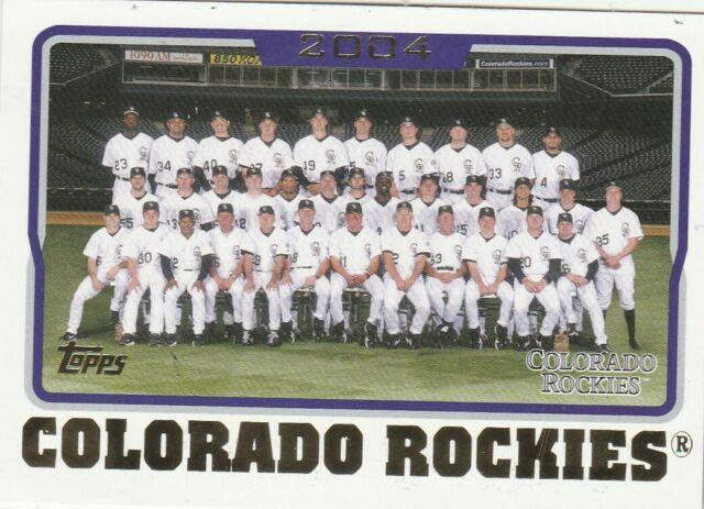 FREE SHIPPING-MINT-2005 Topps #647 Colorado Rockies Team PLUS BOMUS CARDS