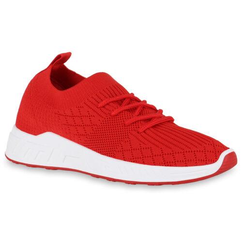 Damen Sportschuhe Laufschuhe Schnürer Fitness Sneaker Strick 825866 Trendy