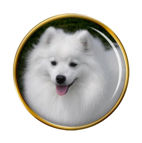 Japanese Spitz Dog Lapel Pin Badge