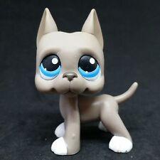 Littlest Pet Shop LPS #184 Grey Gray White Great Dane Blue Eyes / Chien Dogue