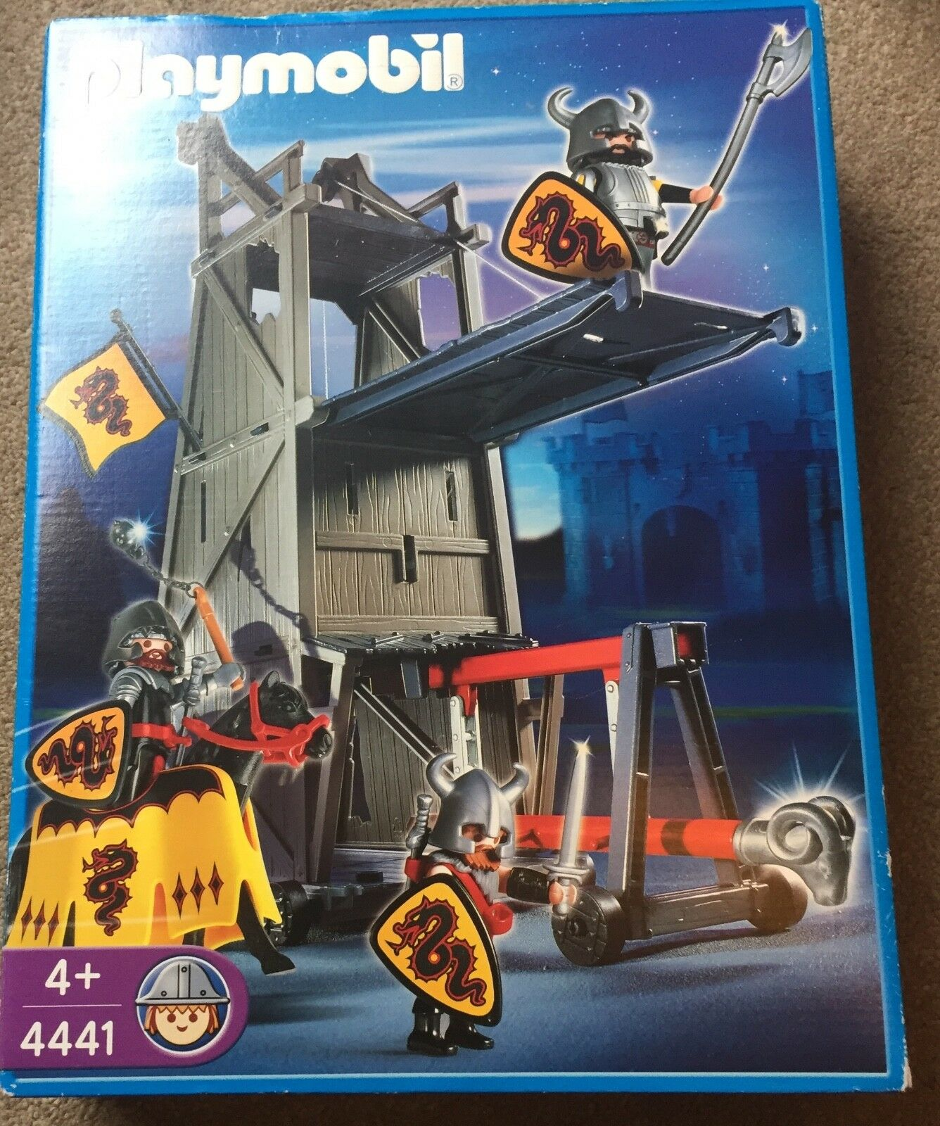 PlayMobil 4441 Knights Siege Tower BNIB