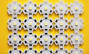 warm-weiß *NEU Löt- Stern Platine 1 Watt Hochleistungs LED 2 x Power LED inkl