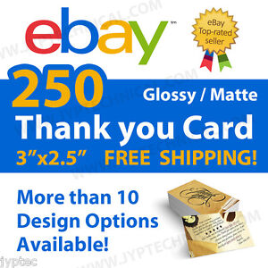 image is loading 250 ebay seller professional thank you business cards - 250 Free Business Cards Free Shipping