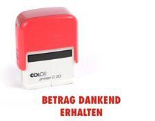 BETRAG DANKEND ERHALTEN Shiny Printer Rot S-842 Büro Stempel Kissen schwarz