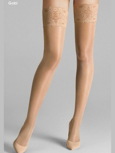 Kp Super Gloss Bridal Luxury  Hi Shine Stockings Lace or Plain  Top  O//S  L-Xl