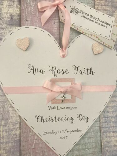 *BOY*GIRL*LARGE PERSONALISED WOODEN PLAQUE*CHRISTENING*NEW BORN*BABY SHOWER*