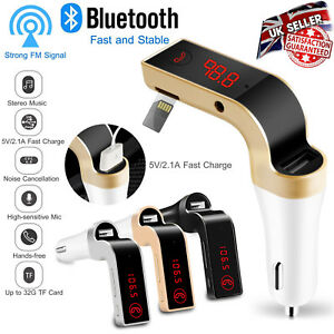 Wireless-Bluetooth-Car-AUX-Stereo-Audio-Receiver-FM-Transmitter-USB-Charger-KIT