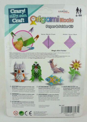Origami Blocks Paper /& Folder Kit Anleitung /& Papier ca 1.200 Stück Kreativset