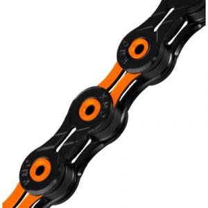 KMC DLC X10SL Bike Chain 116 Links Black//Orange