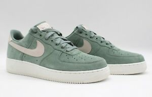 meilleures baskets 76286 ea2bd Details about Nike Men's Air Force One Low Premium Suede ID  Green/Sail-White AQ3661-991 NEW
