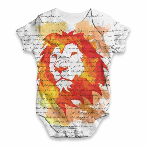Book Print Lion Head Baby Unisex Funny ALL-OVER PRINT Baby Grow Bodysuit