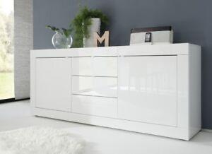 Credenza Avorio Moderna : Mobile soggiorno madia credenza ante cassetti bianco