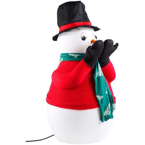 Weihnacht Figur Deko Schneemann mit Seifenlauge Kunst-Schneekanone