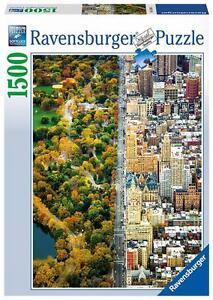 Ravensburger-16254-de-alta-calidad-de-la-ciudad-dividida-Nueva-York-1500-piezas-Rompecabezas
