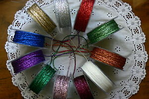 String-Metallic-5-8-amp-10-Metre-Lengths-2-3mm-Wide-10-Colour-Choice-ALD8-14
