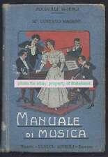 Gustavo Magrini Book Manuale Di Musica 1907 Milano