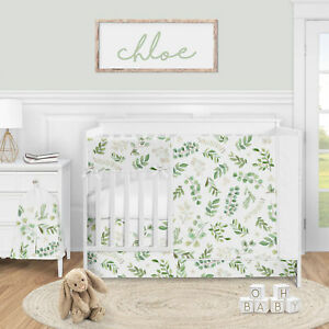 Available in mid-June 5p Green White Boho Floral Leaf Baby Girl ...