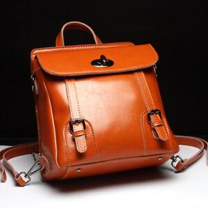 100-Genuine-Leather-Women-039-s-Backpack-Handbag-Shoulder-Bag-Crossbody-Hobo-L5019