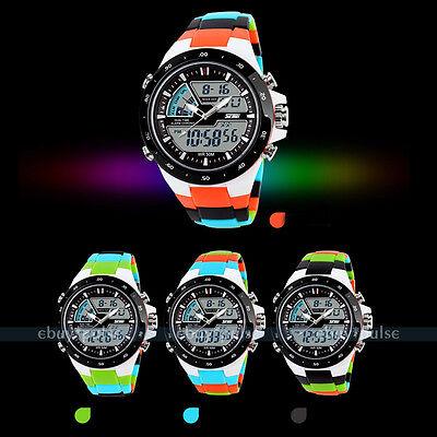 SKMEI Multi-Function Sports LCD Analog Digital Date Brick Waterproof Alarm Watch