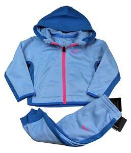 de05261ac7 Nike DRI-FIT Baby Girl 2 Piece Warm Set Zip Hoodie Jogger Outfit 18 ...
