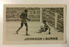 Cohete de tarjeta de Boxeo la famosa nocauts Jack Johnson vs Tommy Burns (1923)
