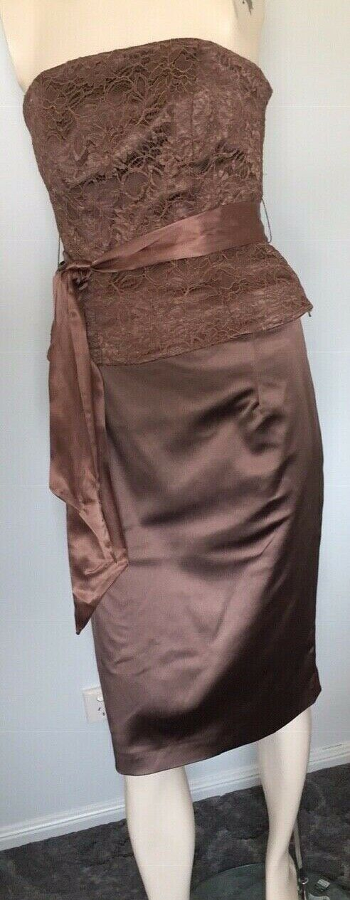 NWT Coast Care -Bronze  skirt and lace strapless top tie at waist size 10