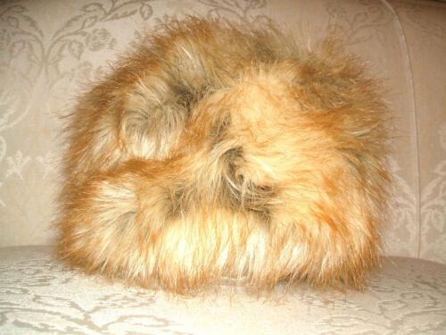 chapeau de style Eskimo Bnwt beige crème H/&M blonde tan Fluffy fausse fourrure russe cosaques