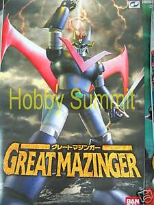 Bandai-Mechacolle-GREAT-MAZINGER-w-Movable-Joints-Japapnese-Amime-Robot-Kit
