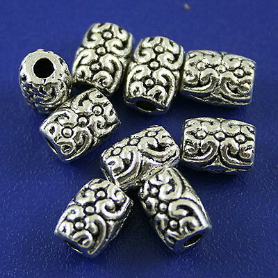 35pcs Tibetan silver flower spacer beads h2513