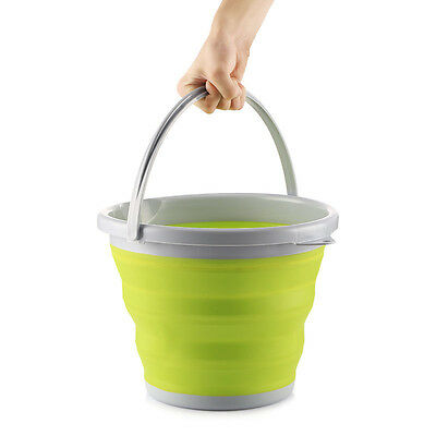 10L Foldable Folding Retractable Collapsible Silicone Bucket Outdoor Car Barrel