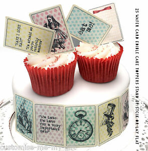 25 wafer card Alice in Wonderland Edible Playing cards ...